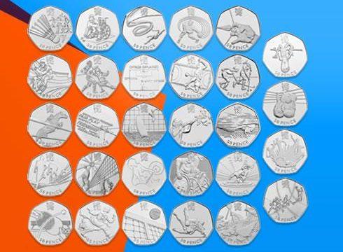 I 50 pence delle Olimpiadi di Londra 2012