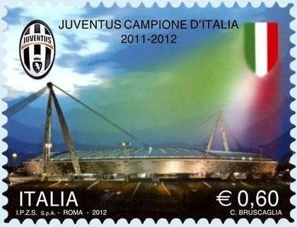 Italia, i francobolli per il campionato di calcio