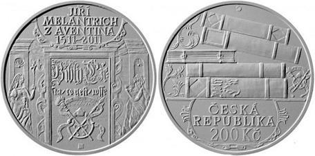 Repubblica Ceca: moneta per Jiří Melantrich