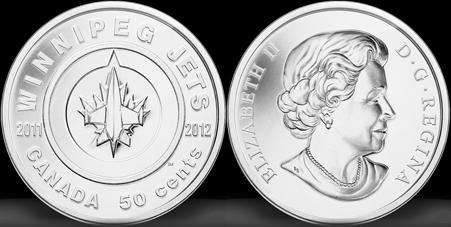 Canada: una moneta per i Winnipeg Jets