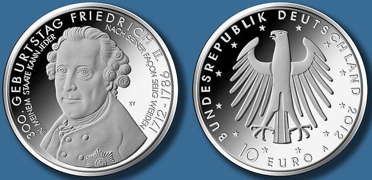 монета 10 евро фото