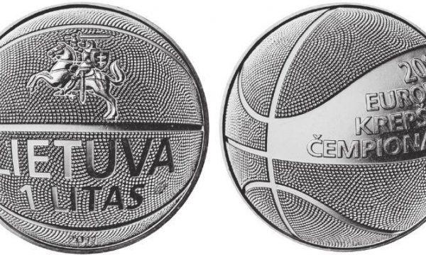 Lituania, moneta per gli europei di basket 2011