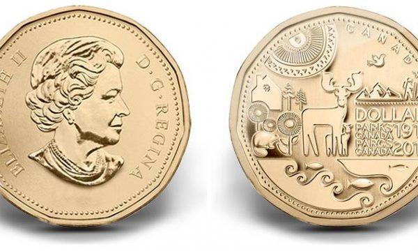 Una moneta per i 100 anni di Parks Canada