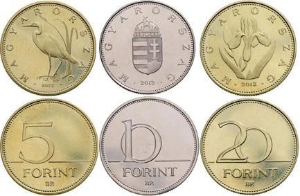 Ungheria, nuove monete nel 2012