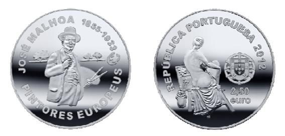 Portogallo, una moneta per il pittore José Malhoa