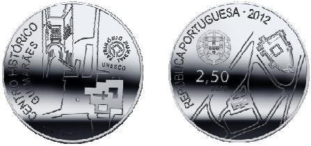 Portogallo, moneta per il centro storico di Guimarães (patrimonio Unesco)