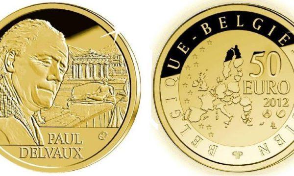 Belgio, moneta per il pittore Paul Delvaux
