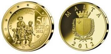 Malta, due monete per lo scultore Antonio Sciortino