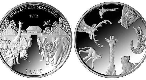 Lettonia, moneta per lo zoo di Riga