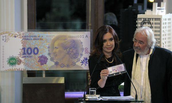 Argentina, banconota per Evita Peron