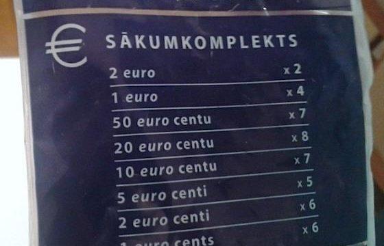 Lettonia nell'euro, presentati gli starter kit