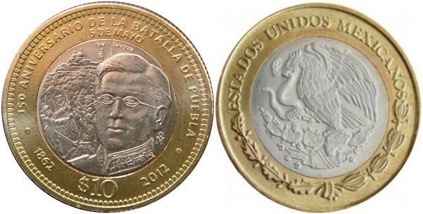 Messico, moneta per la battaglia di Puebla