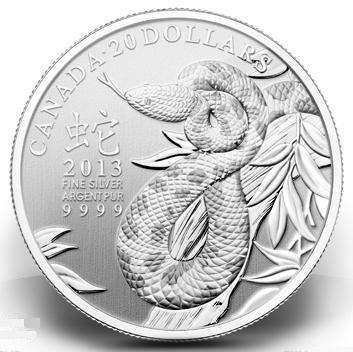 Canada, monete per l'anno del Serpente