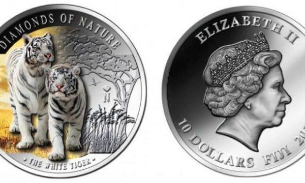Fiji, moneta per la tigre bianca del Bengala
