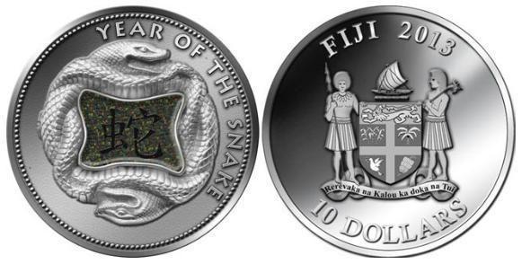 Fiji, moneta per l'anno del Serpente