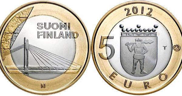 Finlandia, moneta per il ponte Jätkänkynttilä