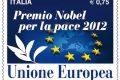 Italia, francobollo per il nobel per la pace all'UE