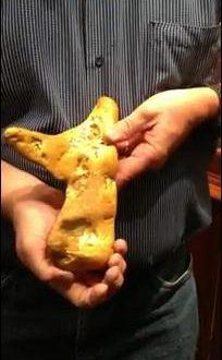 Trovata una pepita d'oro da un chilo e mezzo