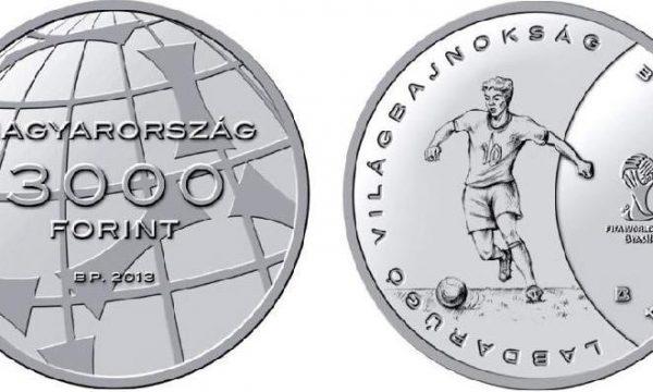 Ungheria, moneta per i mondiali di calcio 2014