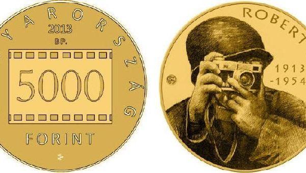 Ungheria, moneta per il fotografo Robert Capa