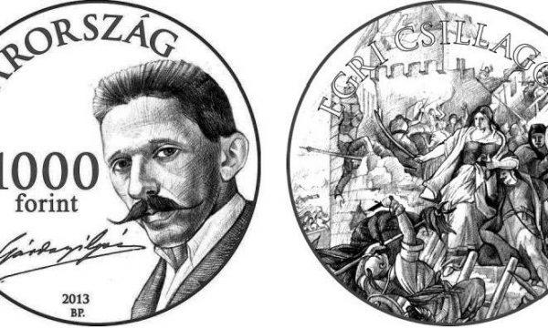 Ungheria, moneta per Géza Gárdonyi