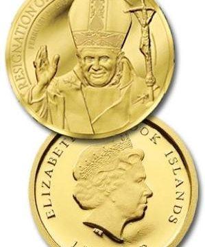 Cook, moneta per la rinuncia di Benedetto XVI