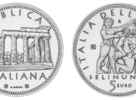Italia, moneta da 5 euro per Selinunte