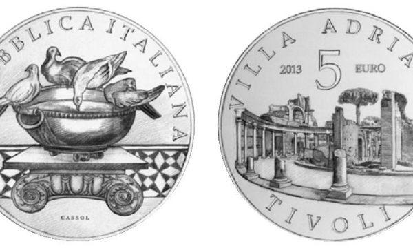 Italia, moneta da 5 euro per Villa Adriana