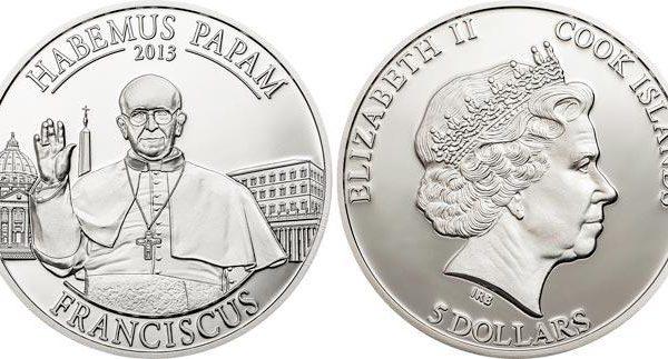 Isole Cook, moneta per papa Francesco