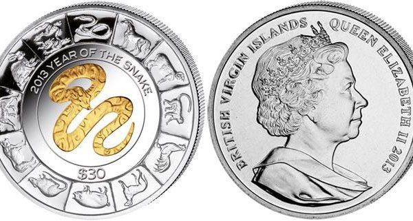 Isole Vergini britanniche, moneta per l'anno del Serpente