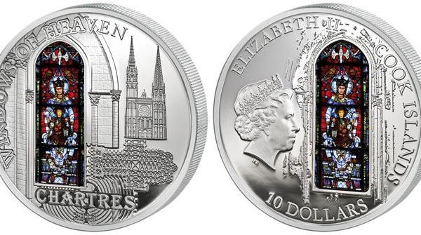 Cook, moneta per le vetrate di Chartres
