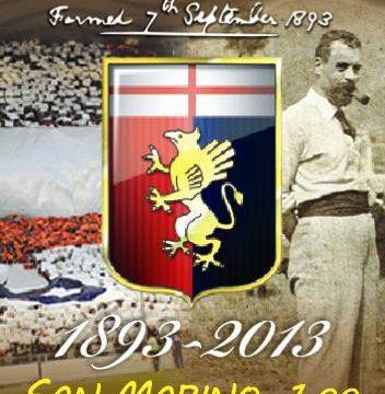 San Marino, francobollo per il 120° del Genoa