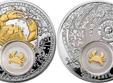Bielorussia, moneta per il segno del Cancro