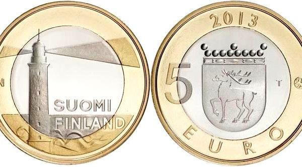Finlandia, moneta per il faro Sälskär (Åland)