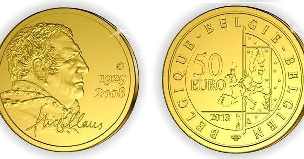 Belgio, moneta per lo scrittore Hugo Claus