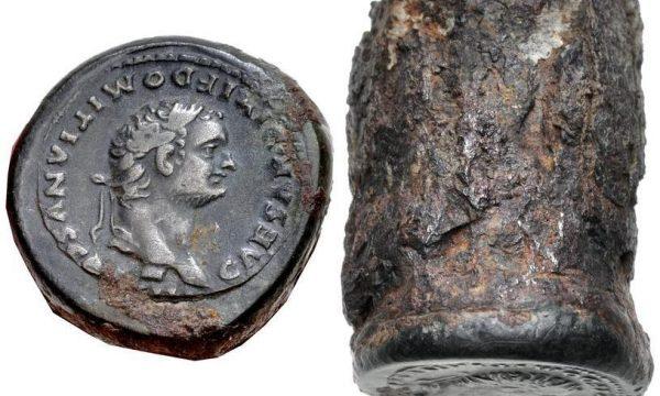 Un falso conio di un denario di Domiziano