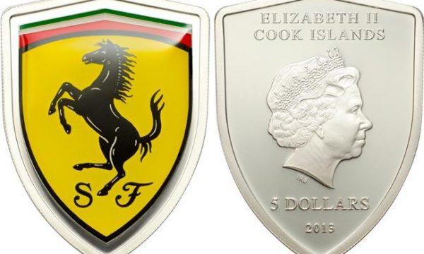 Cook, moneta in argento per la Ferrari