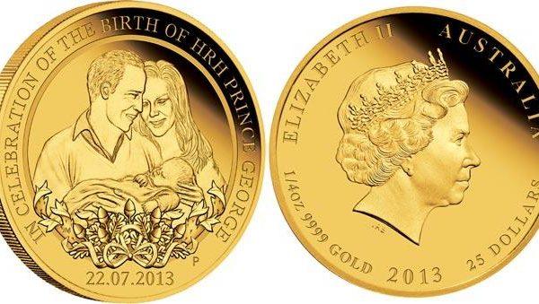 Australia, due monete per il principe George