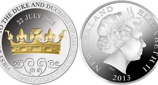 Nuova Zelanda, moneta per il principe George