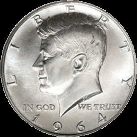 1964: l'ultimo mezzo dollaro d'Argento a titolo 900/1000