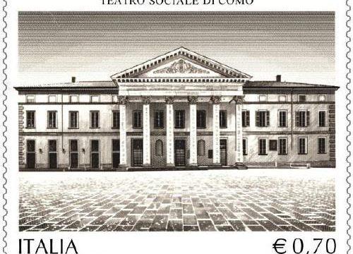 Francobollo per il Teatro Sociale di Como