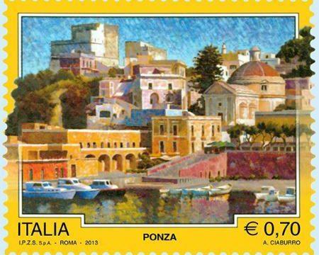 Italia, francobollo per Ponza (LT)