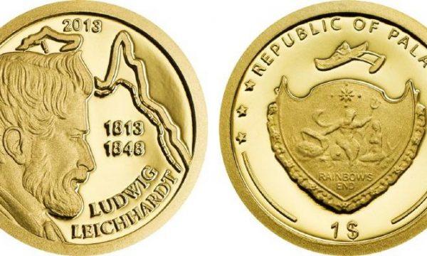 Palau, moneta in oro per Ludwig Leichhardt