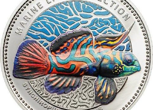 Palau, moneta per il pesce mandarino