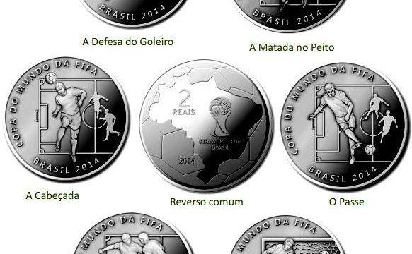 Brasile, nove monete per i mondiali di calcio