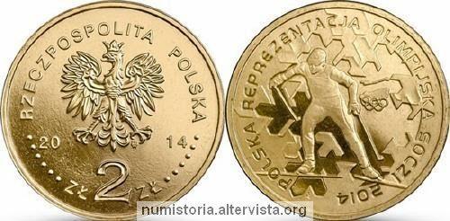Polonia, moneta da 2 zloty per Sochi 2014