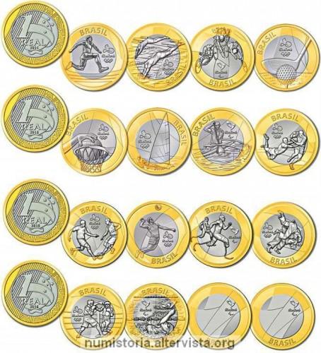 Monete bimetalliche da 1 real