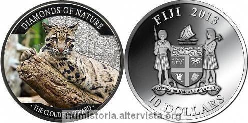 Fiji, moneta per il leopardo nebuloso