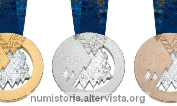 Le medaglie olimpiche di Sochi 2014