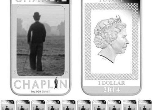 Tuvalu, due monete per Charlie Chaplin